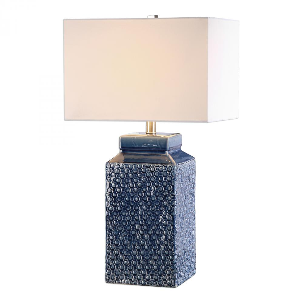 Utt 27229 1 Pero 1lt Shire Blue W Brush Nickel Table Lamp 150w 3