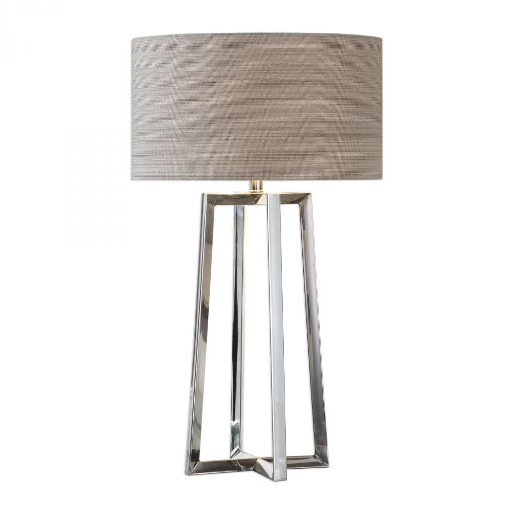 UTT 27573-1 Uttermost Keokee Stainless Steel Table Lamp 1X150