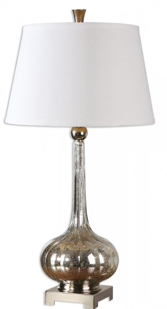 Utt 26494 one light polished nickel table lamp 1x150null dominion utt 26494 aloadofball Images