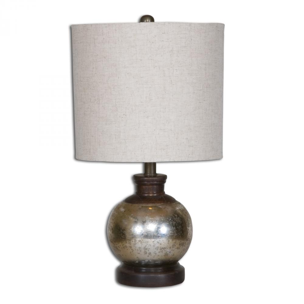 UTT 26208 1 One Light Aged Mango Wood Table Lamp 1X100M