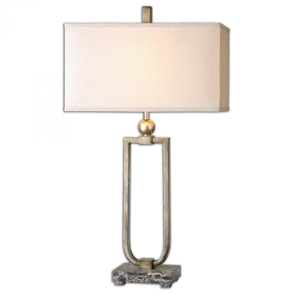 UTT 26140-1 One Light Silver Table Lamp 1X100M