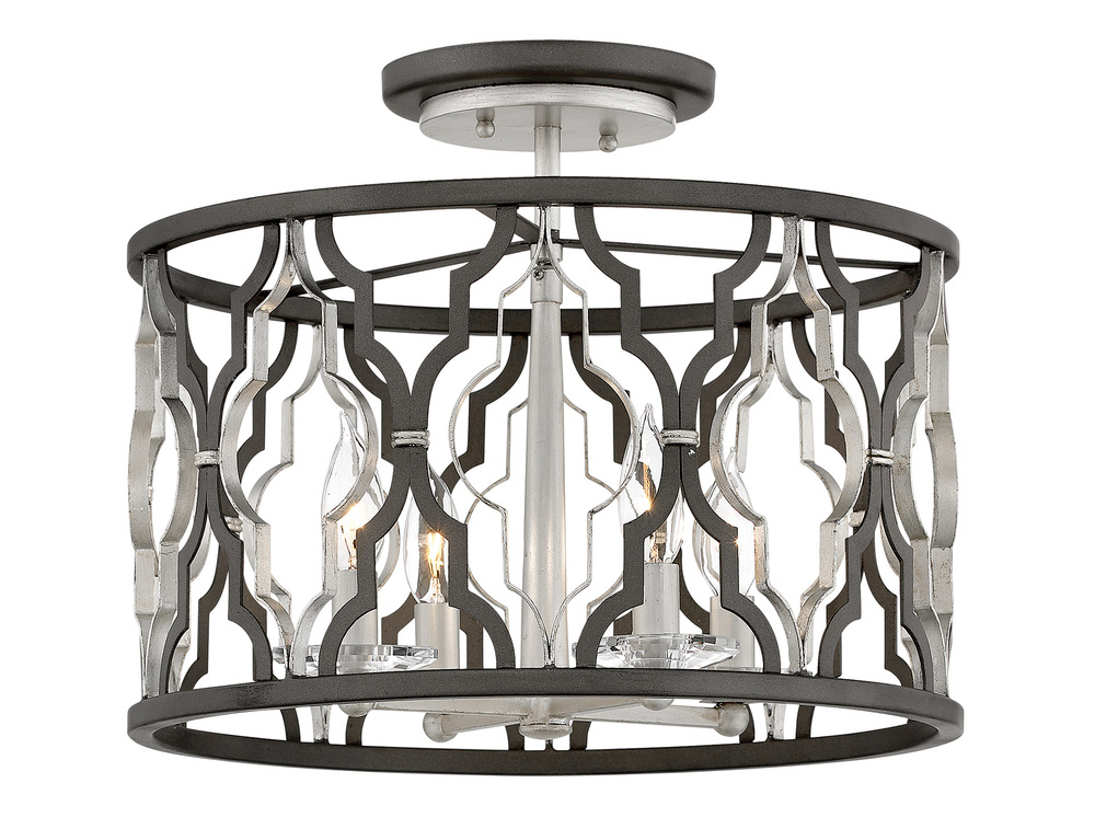 "HIN 3063GG Foyer Portico 4Lt Glacial Gold 16.0"" W X 14.5"" H 4-60w Candleabra Base Lamps (Not Included)"