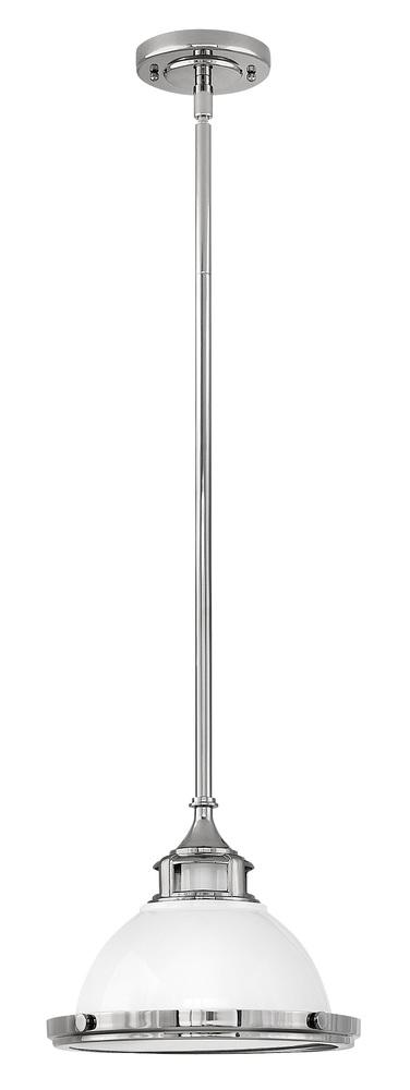 HIN 3122PT Amelia 1Lt Polished Aged Nickel Pendant 11.5