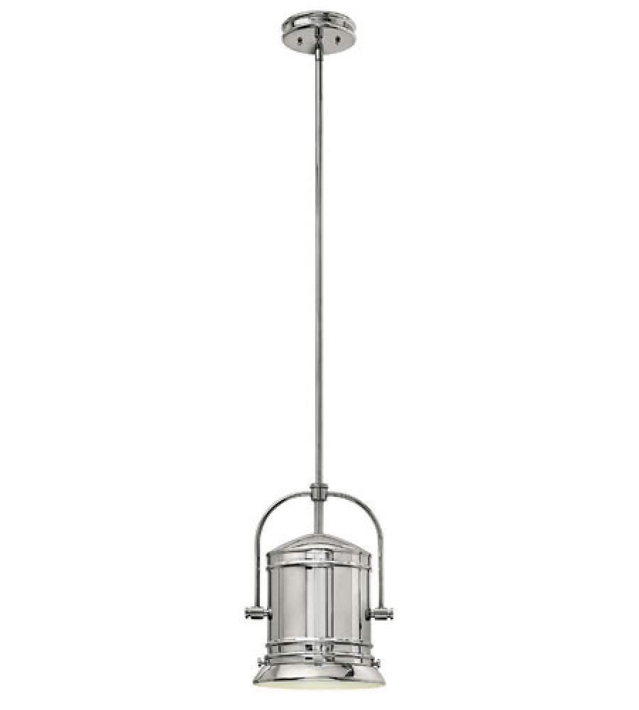 HIN 3257CM One Light Chrome Down Pendant 1X100Medium