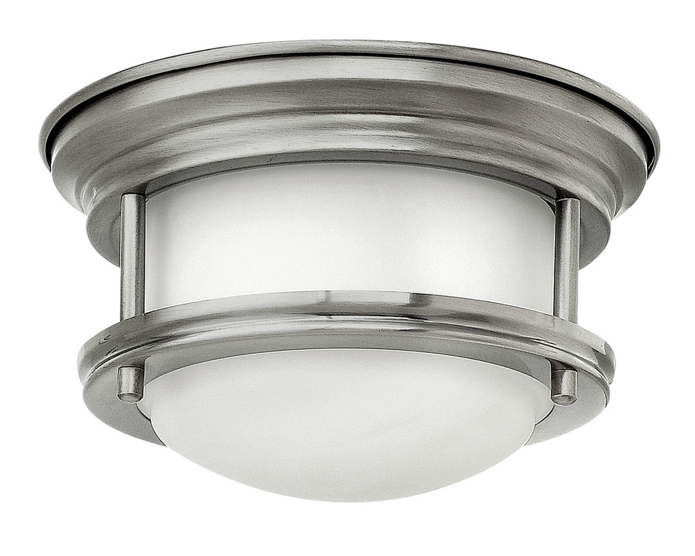 "HIN 3308AN Hadley 1Lt Antique Nickel LED Flush Mount 7.75""W x 4""H lamp included"