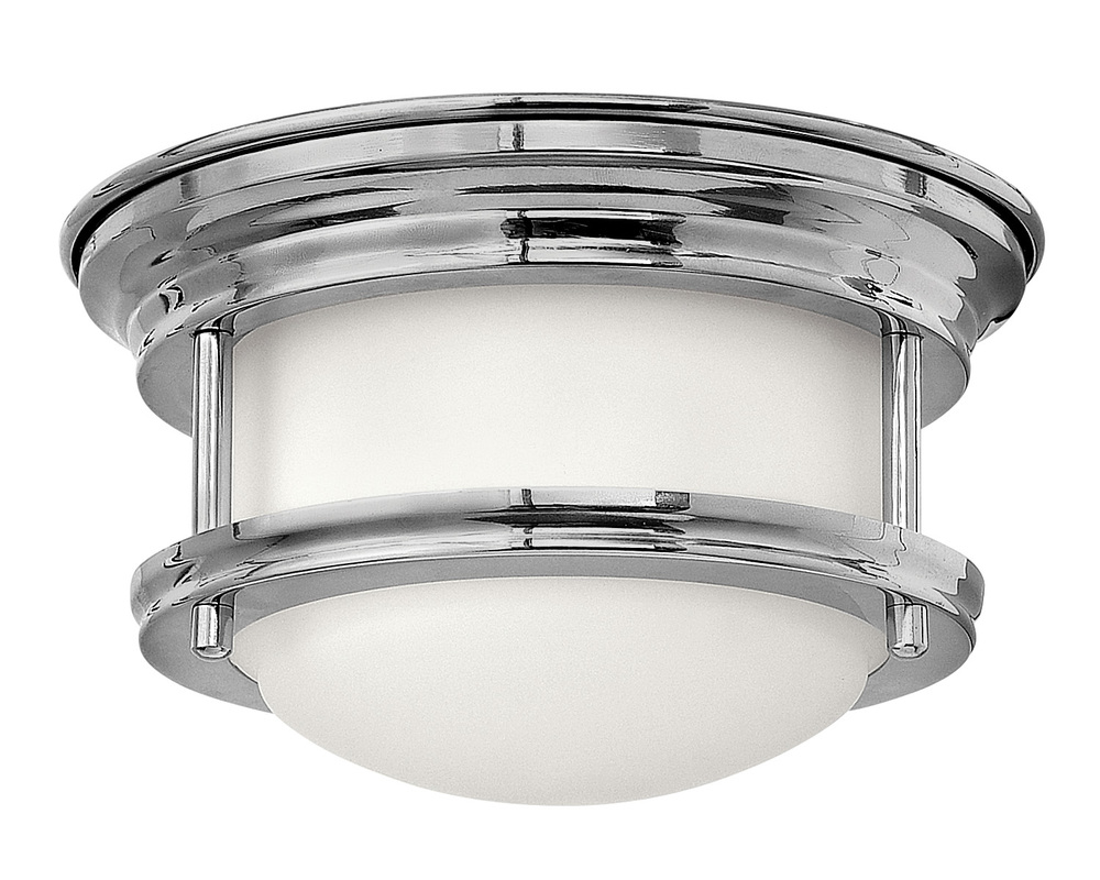 "HIN 3308CM Hadley 1Lt Chrome LED Flush Mount 7.75""W x 4""H lamp included"