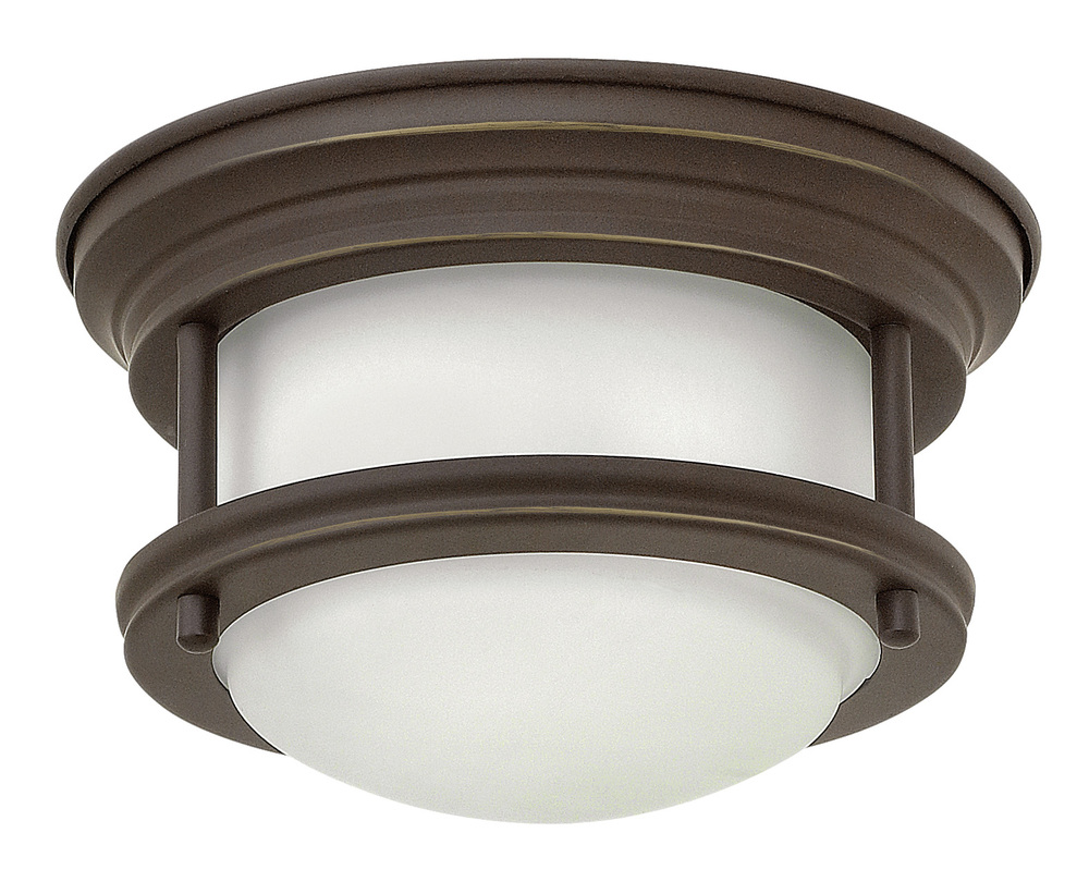 "HIN 3308OZ Hadley 1Lt Oil Rubbed Bronze LED Flush Mount 7.75""W x 4""H lamp included"