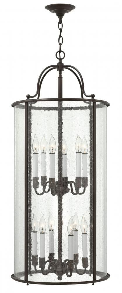 HIN 3479OB Twelve Light Clear Glass Foyer Hall Pendant 12X60C
