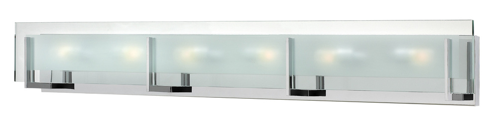 HIN 5656CM Six Light Clear Beveled Inside-etched Glass Vanity 6X60G-9
