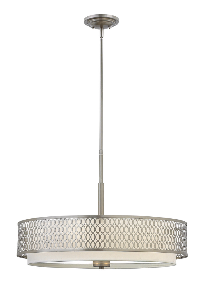 HIN FR35604BNI 3X100M Jules Brushed Nickel Drum Chandelier