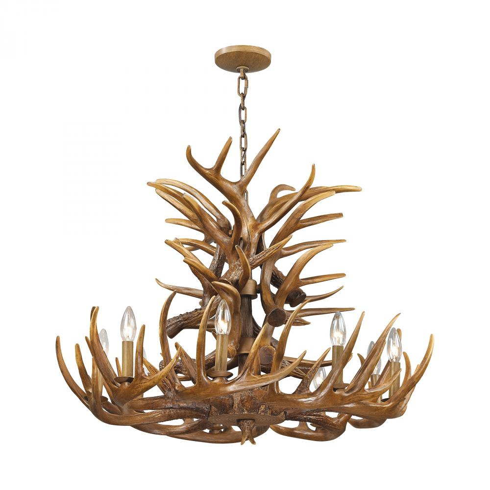 ELK 16316/9 9 Light Chandelier In Wood Brown 9x60C *** RED TAG ITEM ***